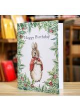 Поздравителна Картичка Peter Rabbit Beatrix Potter Leaves