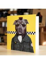 Поздравителна Картичка Pets Rock Cabbie
