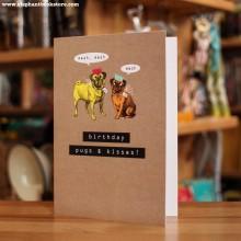Поздравителна Картичка Pugs & Kisses