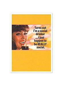 Поздравителна картичка SOCIAL DRINKER