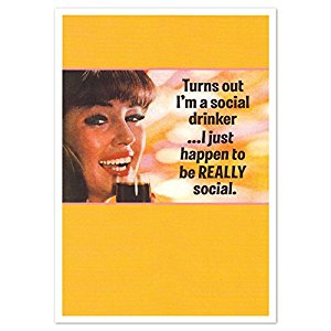 Greeting card SOCIAL DRINKER