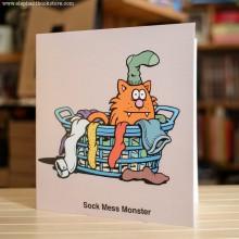 Поздравителна картичка Sock Mess Monster