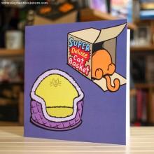 Поздравителна Картичка Super Deluxe Cat Basket
