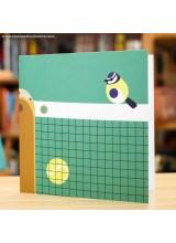 Поздравителна Картичка Tennis Court Tit Bird