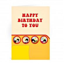 Поздравителна картичка THE BEATLES Yellow Submarine