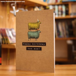 Greeting Card Two Ewes
