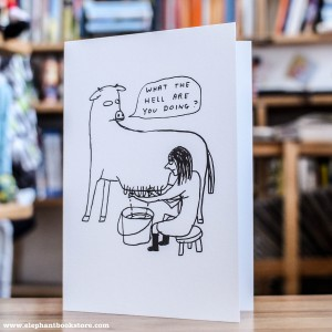 Vegan Greeting Card What the Hell