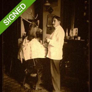 30 x 40 Signed Print Adrian Higgins Take a Seat Barber