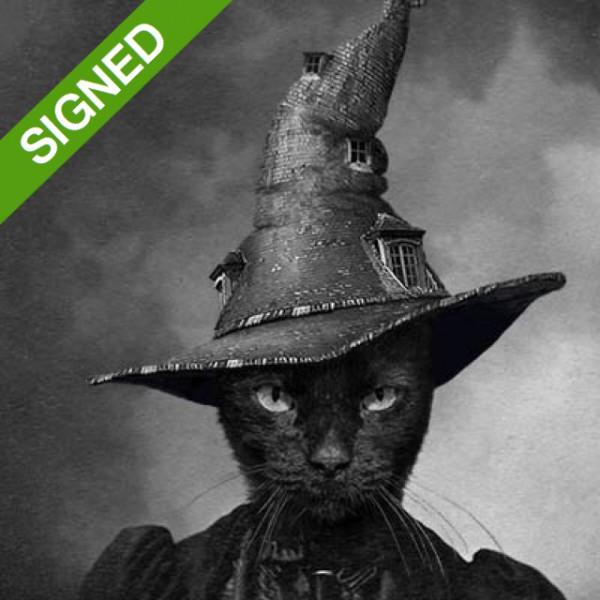 Adrian Higgins  - 30 x 40 Подписан Принт Adrian Higgins Cat in the Magical Hat  1
