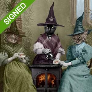 30 x 40 Подписан Принт Adrian Higgins Witches Brew