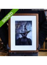 30 x 40 Подписан Рамкиран Принт Adrian Higgins Cat in the Magical Hat