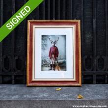30 x 40 Подписан Рамкиран Принт Adrian Higgins The Hunter and the Hunted