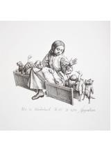 Графика Ясен Гюзелев Алиса в Страната на Чудесата Животни Гл. XII L4