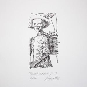 Графика Ясен Гюзелев Пинокио Гл. XXXVI L4