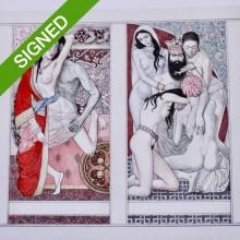 Лимитирана Репродукция Ясен Гюзелев Еротични Таро Карти 1001 Нощи  N 11/100