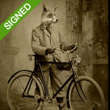 Подписан Лимитиран Принт Adrian Higgins Dapper Fox