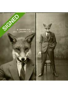 Подписан Лимитиран Принт Adrian Higgins Dapper Fox Gets Nicked