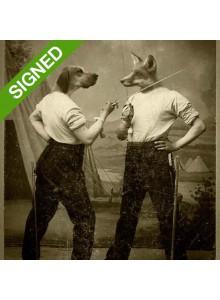 Подписан Лимитиран Принт Adrian Higgins Fox and Hound
