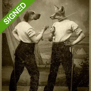 Signed Limited Print Adrian Higgins Fox and Hound