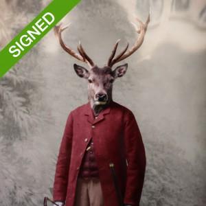 Подписан Лимитиран Принт Adrian Higgins The Hunter and the Hunted