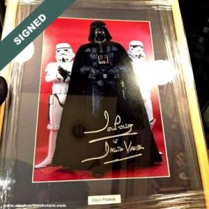 Подписана Фотография DAVE PROWSE Darth Vader