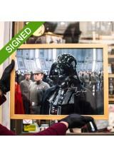 Подписана Фотография Дейв Прауз Star Wars Death Star