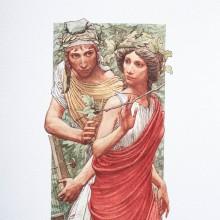 Репродукция Жикле Ясен Гюзелев Орфей и Евридика