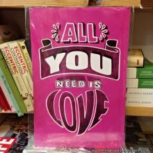 Метална Табела ALL YOU NEED IS LOVE