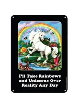 Метална табела Еднорог Rainbows