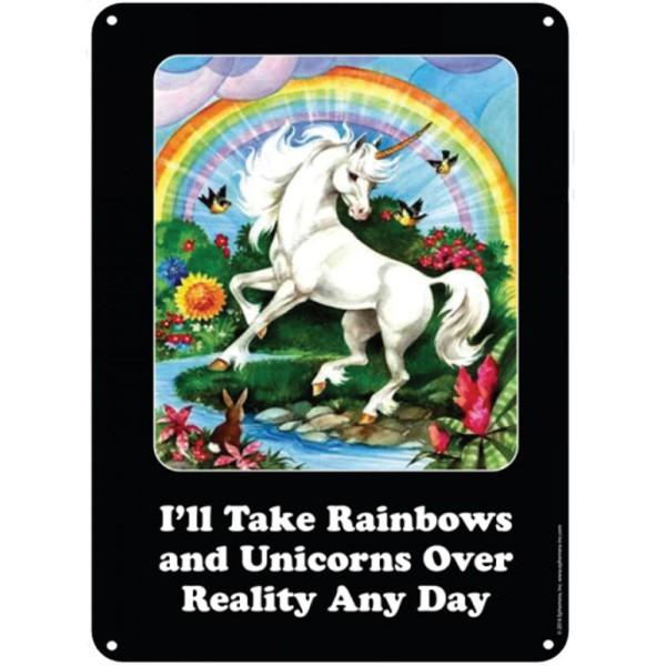 Метална табела Еднорог Rainbows  1