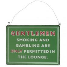 Метална Табела  | Gentlemen Smoking