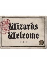 Метална Табела Хари Потър Wizards Welcome SSA5HP18