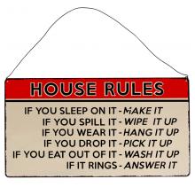 Метална табела House Rules