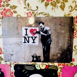 Метална Табела I LOVE NY