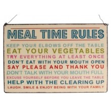 Метална табела Meal Time Rules