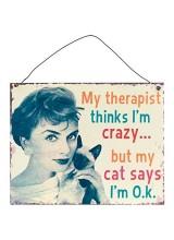 Метална Табела My Therapist