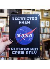 Метална табела NASA