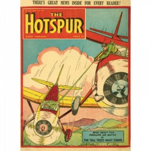 Метална Табела The Hotspur Thrilling Air Battle