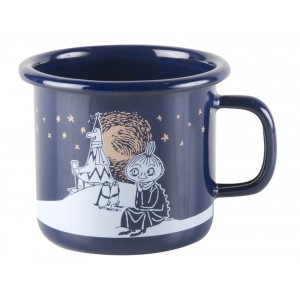 Enamel Espresso Mug Moomin Winter Romance 250 ml.