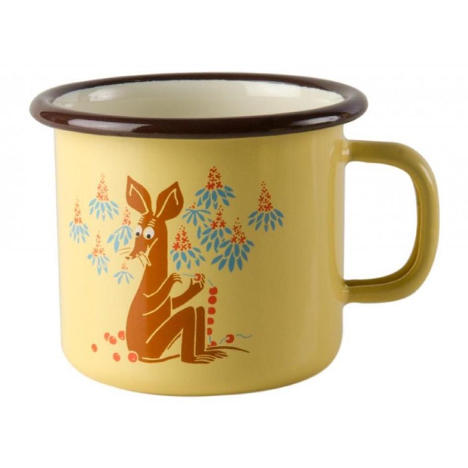 Enamel Espresso Mug MOOMIN Sniff | Moomins | Elephant Bookstore