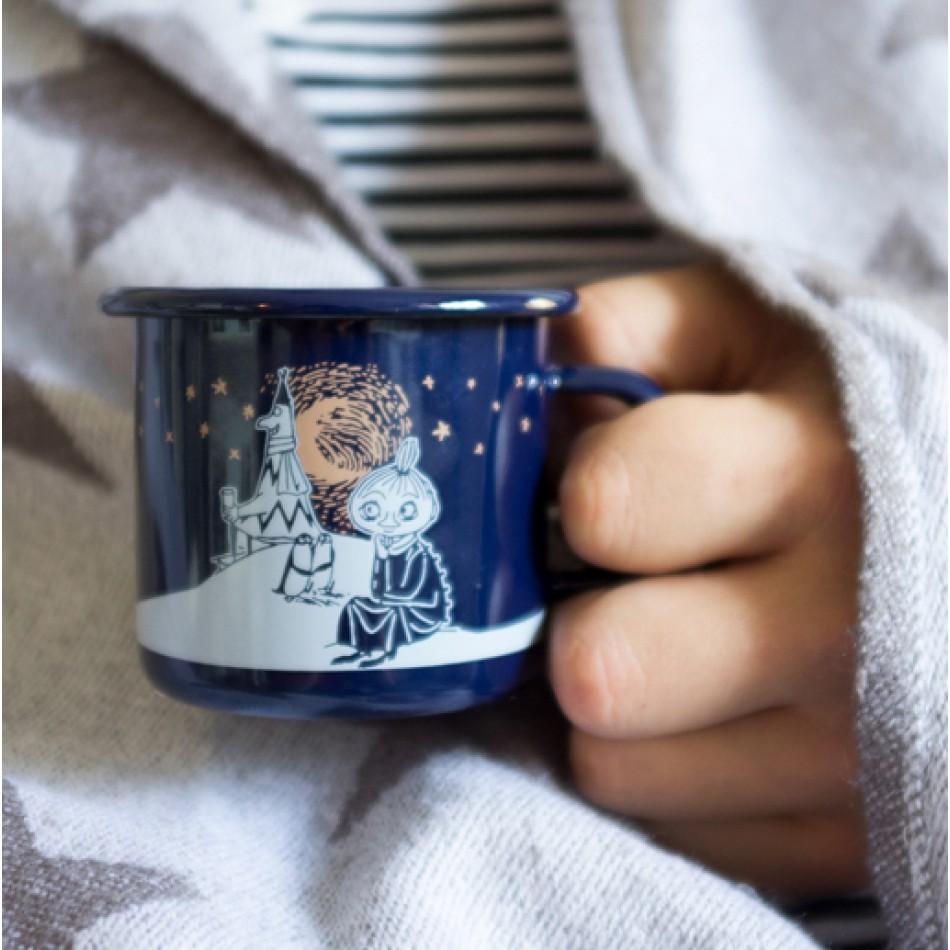 Enamel Espresso Mug Moomin Winter Romance 250 ml  | MOOMIN