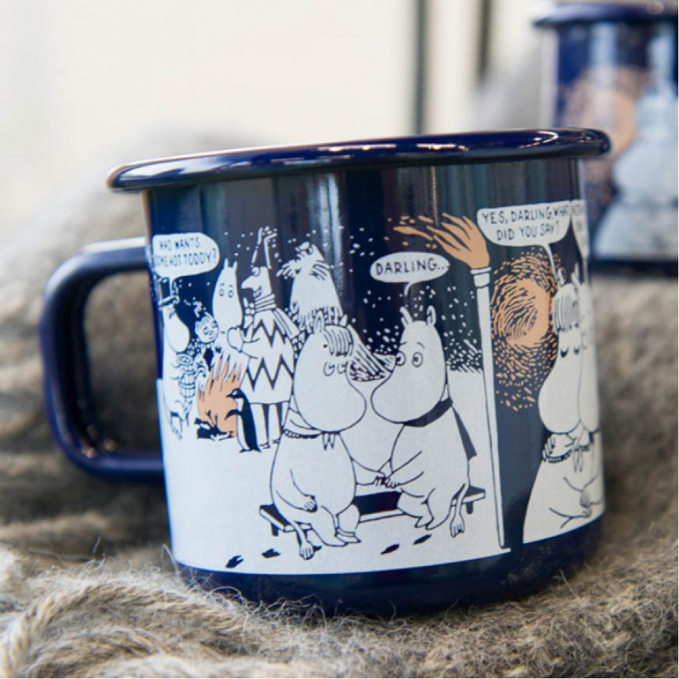 Enamel Mug Moomin Winter Romance 370 ml  | MOOMIN | Elephant Bookstore