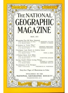 Списание National Geographic 1951-05