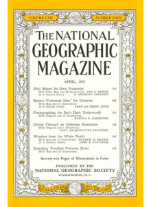 Списание National Geographic 1955-04