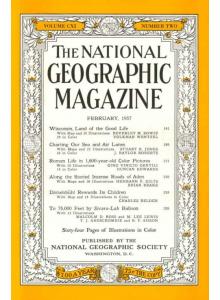 National Geographic Magazine 1957-02