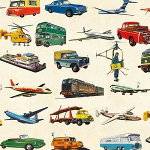 Wrapping Paper Vintage Transport