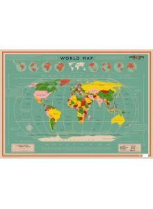Опаковъчна хартия World Map