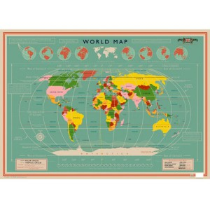 Wrapping paper World Map