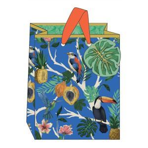 Gift Bag The Art File Tropical Blue