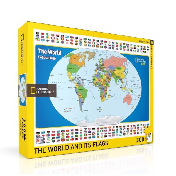 NY Puzzle Co. - Пъзел National Geographic Детска Карта на Света 300 Парчета 1
